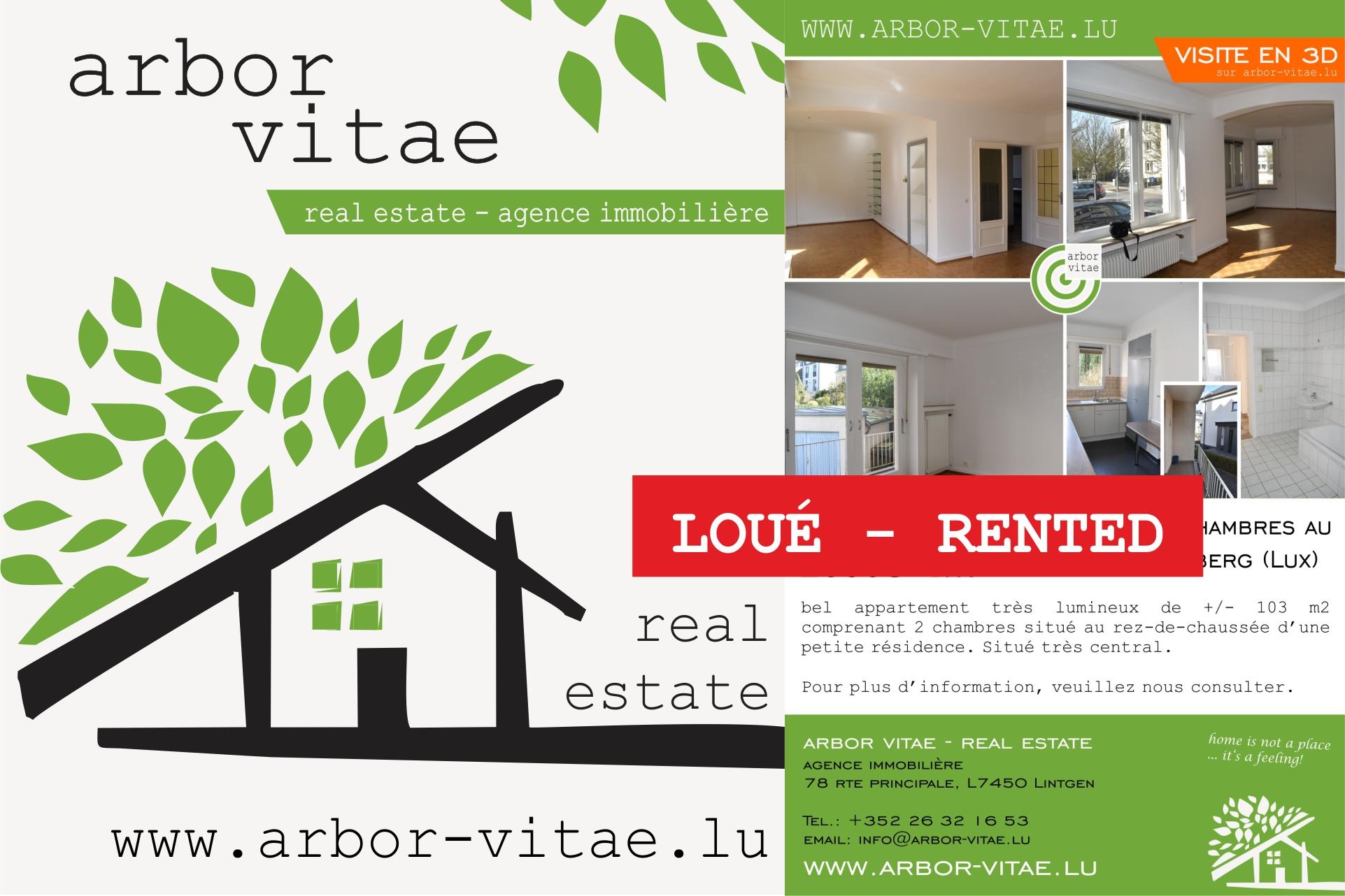 Luxembourg, 1226, 2 Bedrooms Bedrooms, ,Apartment,For Rent,Jean Pierre Beicht,1000