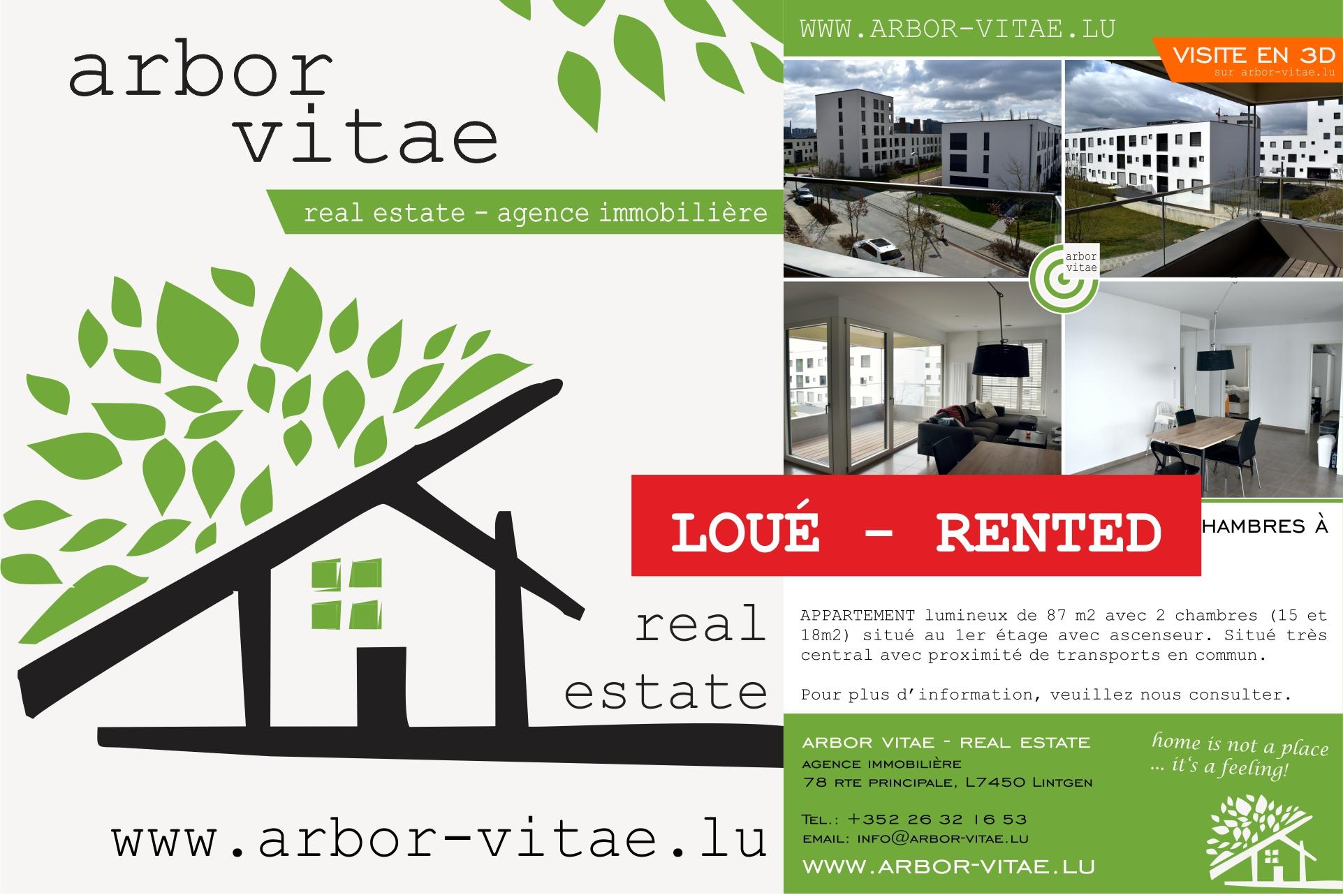 Belvaux, 4408, 2 Bedrooms Bedrooms, ,Apartment,For Rent,Platon,rue de Waasertrap,1,1003