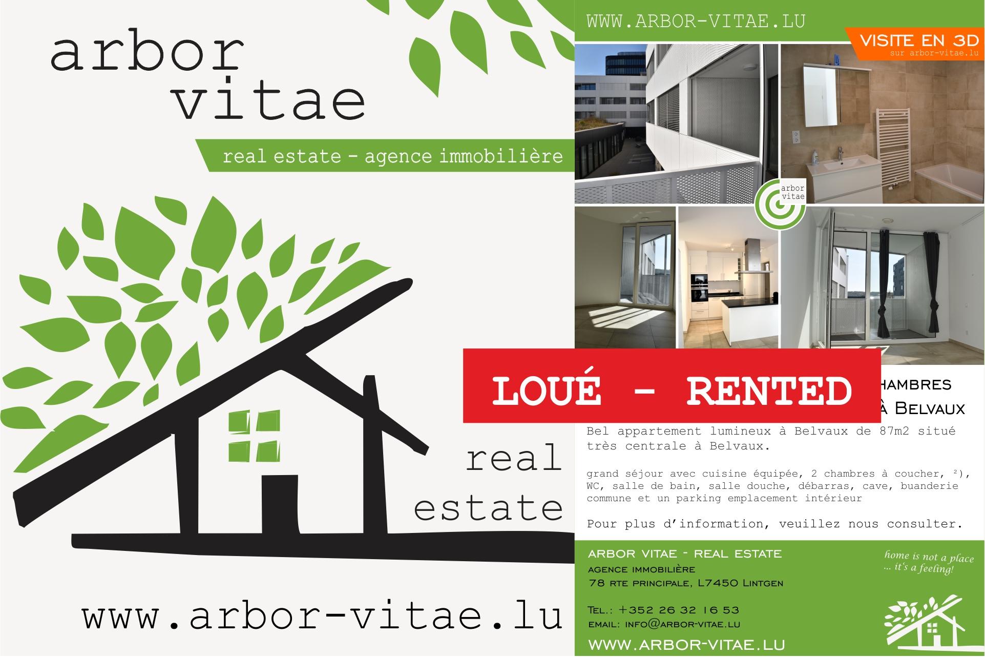 Belvaux, 4371, 2 Bedrooms Bedrooms, ,Apartment,For Rent,JAZZ,John Lennon,2,1006