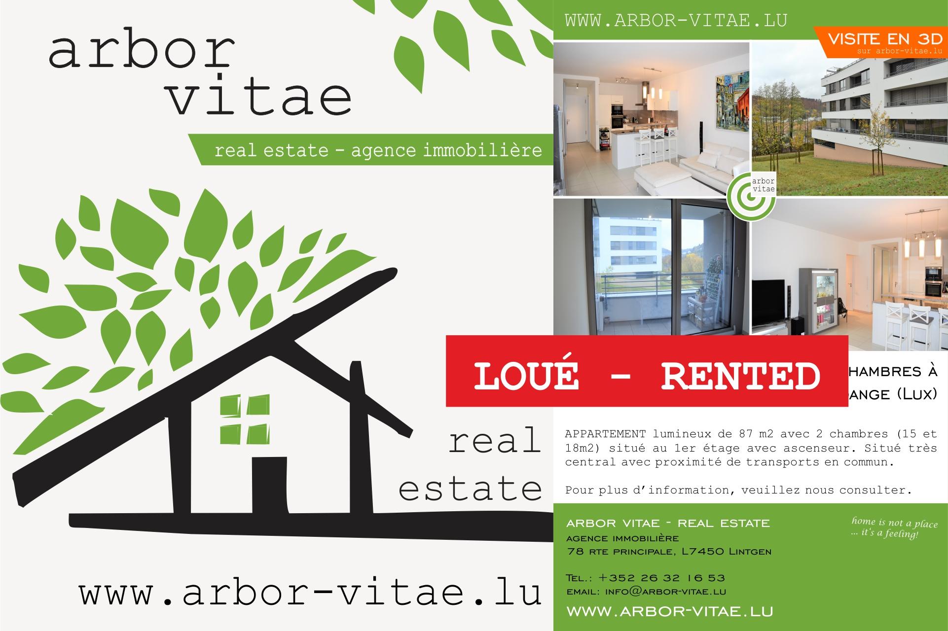 Dommeldange, 1161, 2 Bedrooms Bedrooms, ,Apartment,For Rent,1001